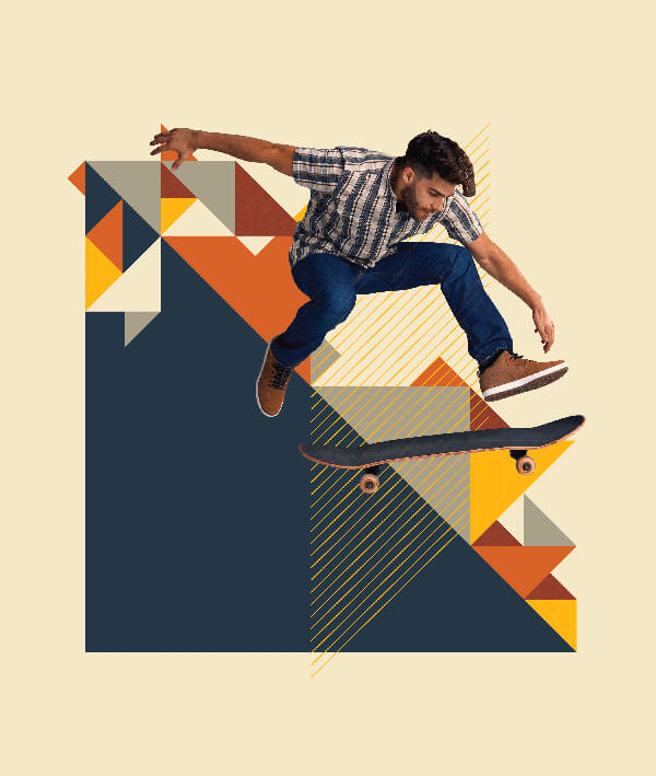 Durable Jeans Skateboarding Graphic