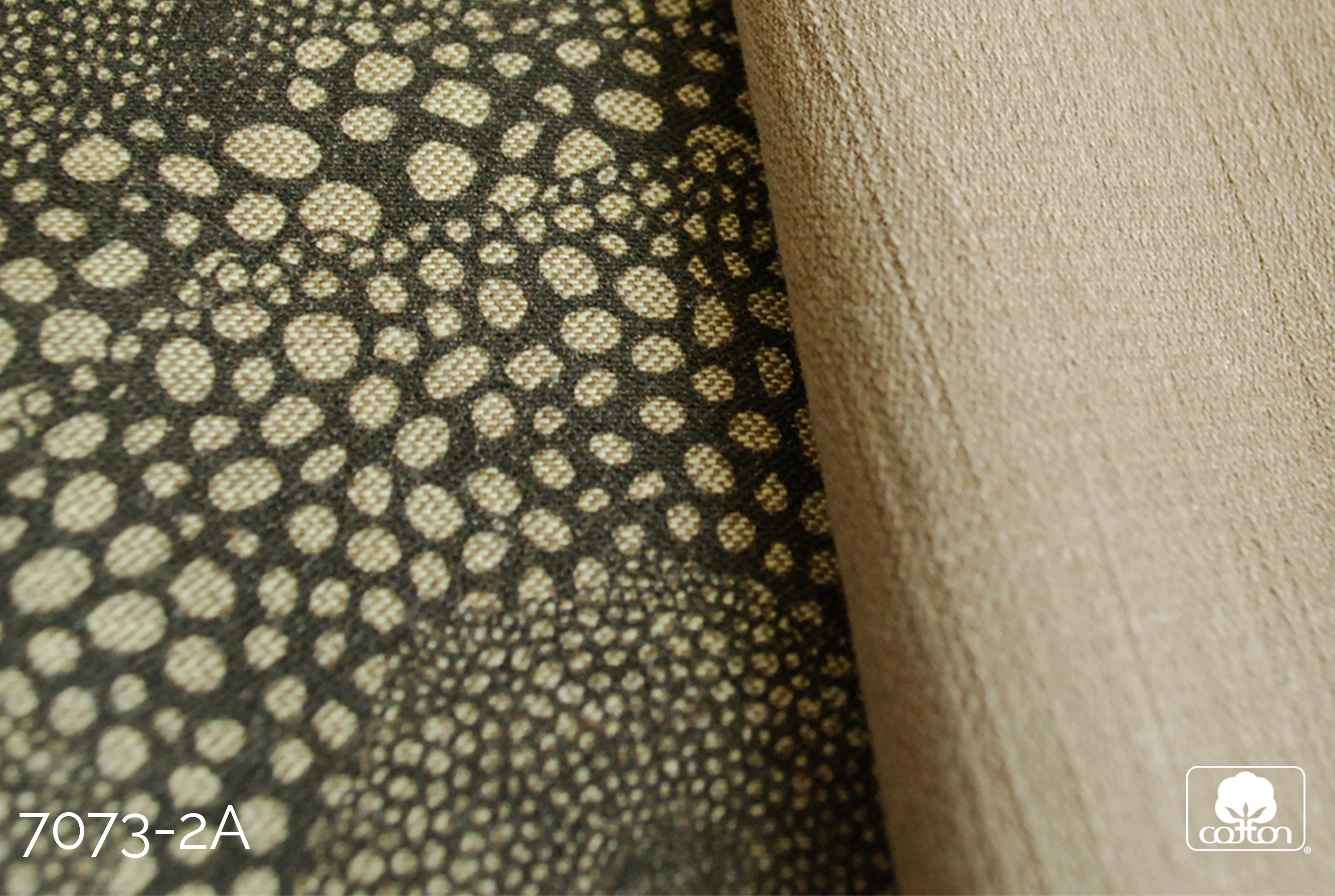 Black and Tan patterned weave fabric