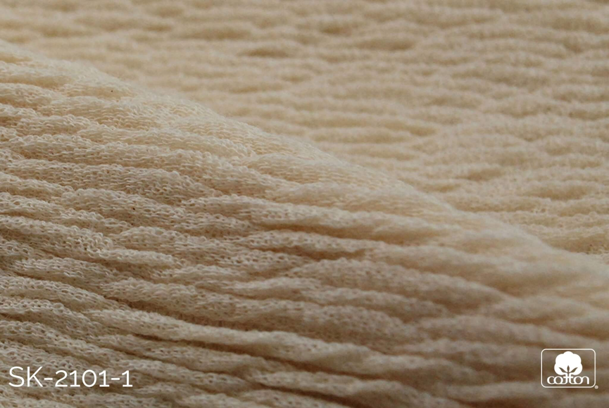 corded white fabric