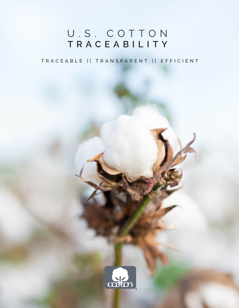 US cotton traceability with cotton flower