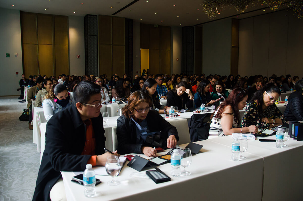 conference attendees sitting June 2019